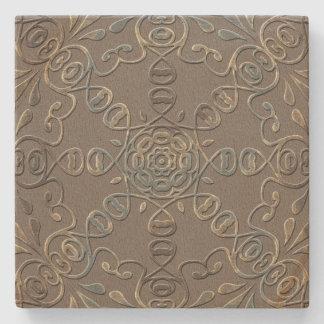 Elegant Scroll Sandstone Coaster