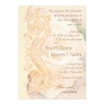 Elegant Scroll Wedding Invitation - Peach 2