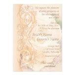 Elegant Scroll Wedding Invitation - Peach 3