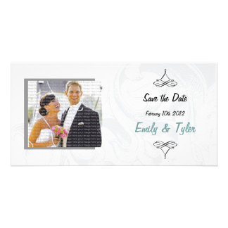 Elegant Scroll Wedding Save the Date Photocards Card