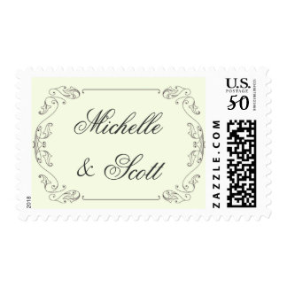 Elegant Scroll with changeable background Postage