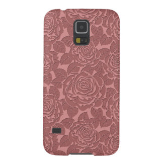 Elegant Sculpted Pink Roses Galaxy S5 Case