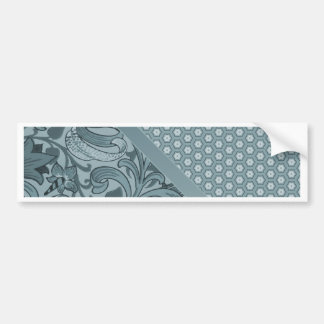Elegant Sea Foam Floral Geometric Tiled Pattern Bumper Sticker
