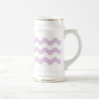 Elegant sea of strips waved in lilac beer stein