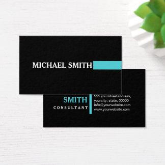 Elegant Sea Serpent Modern Plain Black Business Card