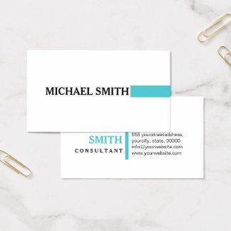 Elegant Sea Serpent Modern Plain White Business Card