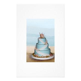Elegant Sea Shell Wedding cake Flyer