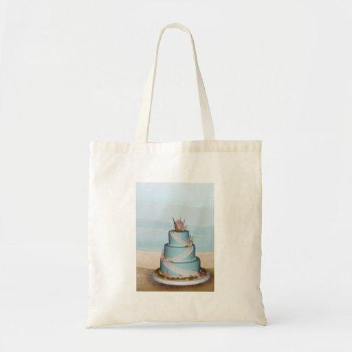 Elegant Sea Shell Wedding cake Tote Bag