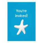 Elegant Sea Star Blue Birthday Party Invitation