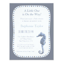 Elegant Seahorse Ocean Baby Shower Invitations