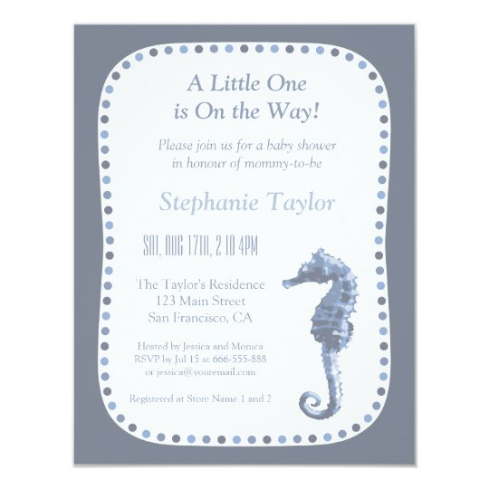 Elegant Seahorse Ocean Baby Shower Invitations Zazzle