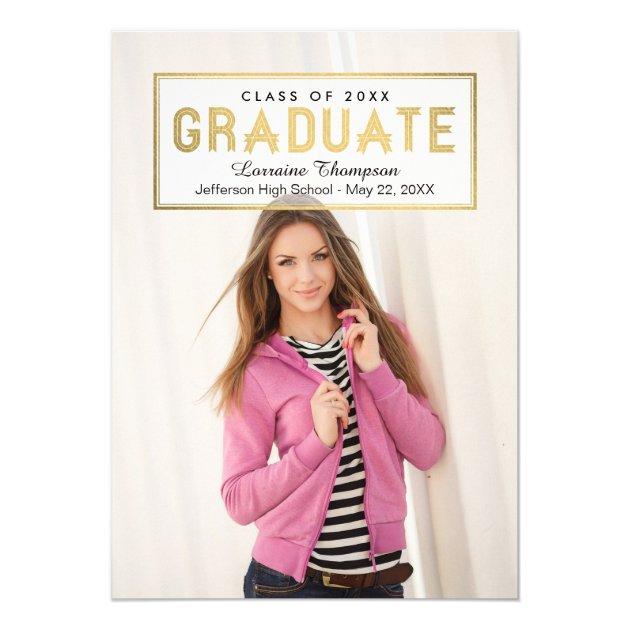 Elegant Seal Graduation Invite Announcement Gold