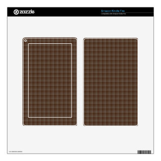 Elegant Seamless Brown Tile Pattern Decals For Kindle Fire