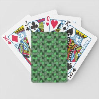 Elegant Seamless Green Pattern Bicycle Playing Cards
