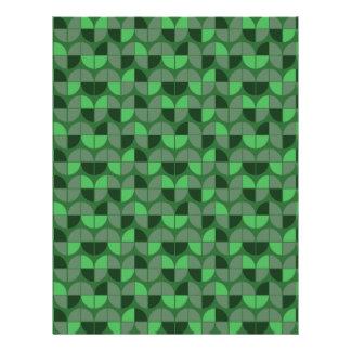 Elegant Seamless Green Pattern Letterhead