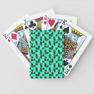 Elegant Seamless Pattern Bicycle Playing Cards