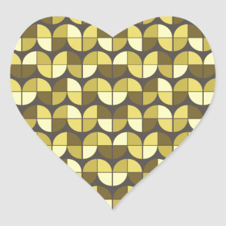 Elegant Seamless Pattern Heart Sticker