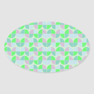 Elegant Seamless Pattern Oval Sticker