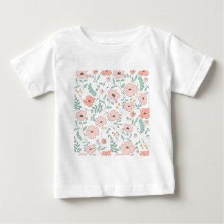 Elegant seamless pattern with flowers, vector illu baby T-Shirt