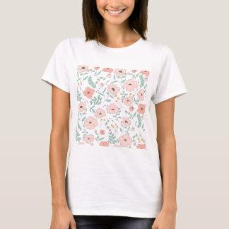 Elegant seamless pattern with flowers, vector illu T-Shirt