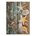 elegant seashells beach bridal shower tea party personalized announcement