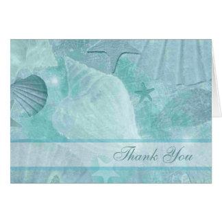 Elegant Seashells Custom Thank You Card