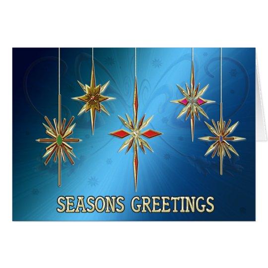 Elegant Seasons Greetings card with ornaments
