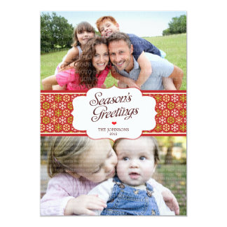Elegant Season's Greetings Photo Card Personalized Invitation