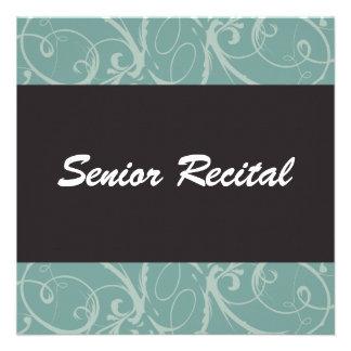 Elegant Senior Recital Personalized Invitation