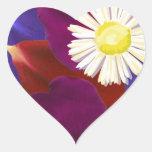 Elegant Sensual Rose Petal Art Heart Sticker