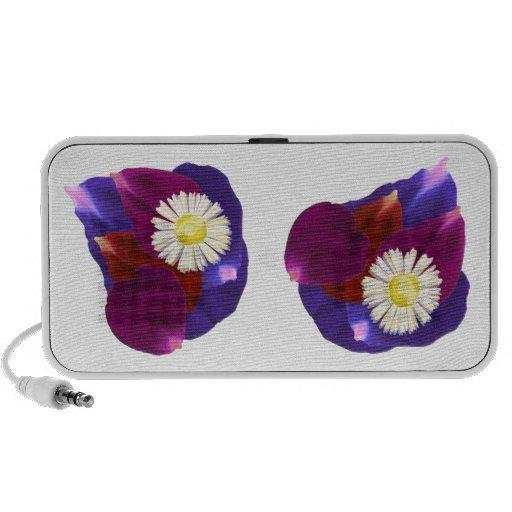 Elegant Sensual Rose Petal Art Mp3 Speakers