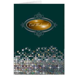 Elegant Sequin Eid Mubarak Greeting Card