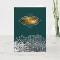 Elegant Sequin Eid Mubarak Holiday Card