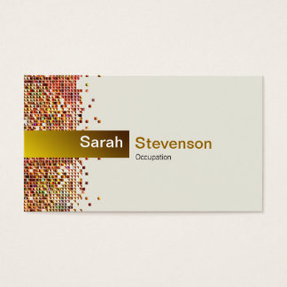 Elegant Sequin Gold Business Card