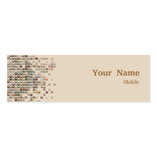 Elegant Sequins Double-Sided Mini Business Cards (Pack Of 20)