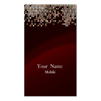 Elegant Sequins Maroon Double-Sided Standard Business Cards (Pack Of 100)