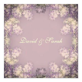 Elegant Shabby Chic Floral Save The Date Card