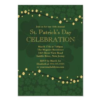Elegant Shamrock St. Patrick's Party Invitation