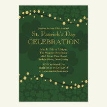 Elegant Shamrock St. Patrick's Party Invitation