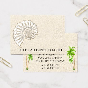 Professional Business Elegant Shell Business Card