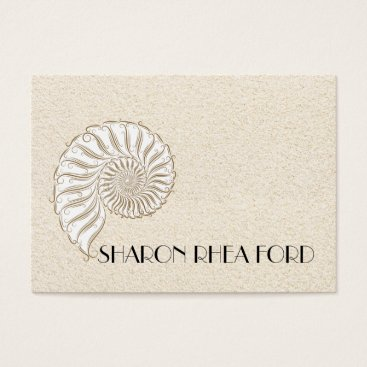 Beach Themed Elegant Shell Calling Card / Contacts / Business