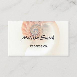 Nautilus shell business cards zazzle elegant shell professional business card colourmoves