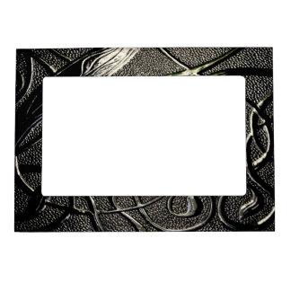 Elegant Shiny Black Metal Design Magnetic Photo Frame