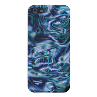 Elegant shiny blue liquid water ripple iPhone 5/5S covers