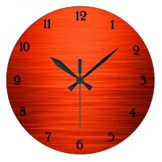 Elegant shiny orange shaded wall clock