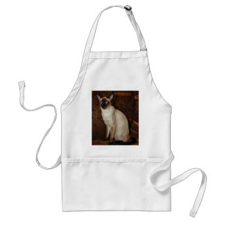 Elegant Siamese Cat Adult Apron