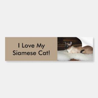 Elegant Siamese Cat Bumper Sticker