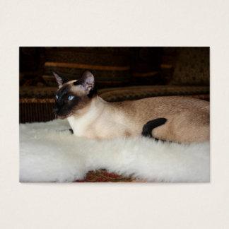 Elegant Siamese Cat Business Card