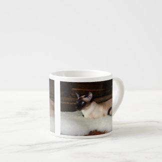 Elegant Siamese Cat Espresso Cup