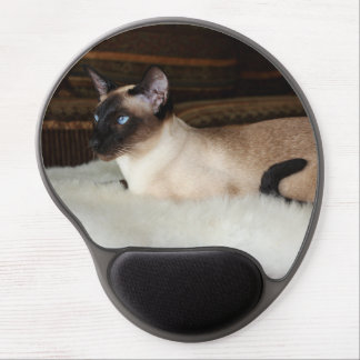 Elegant Siamese Cat Gel Mouse Pad